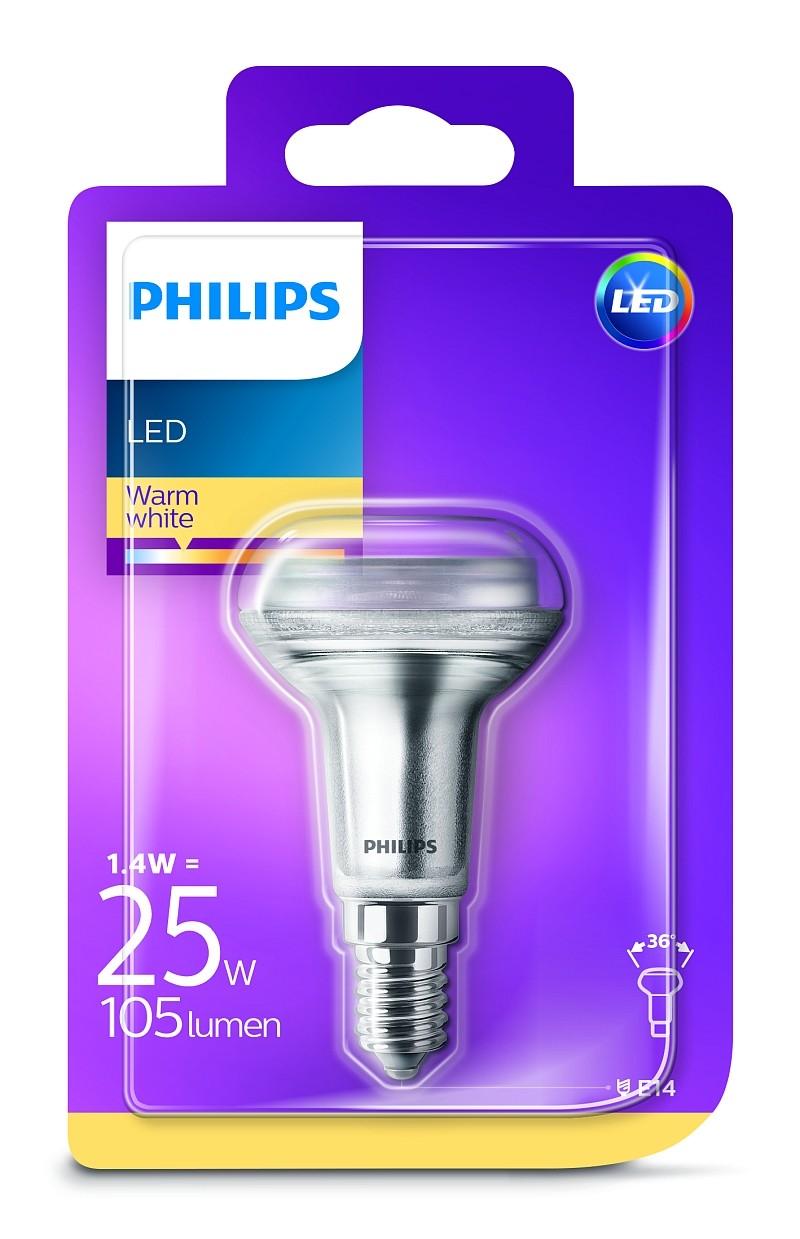Philips LED 1W/25W E14 WW R50 36D ND smerová