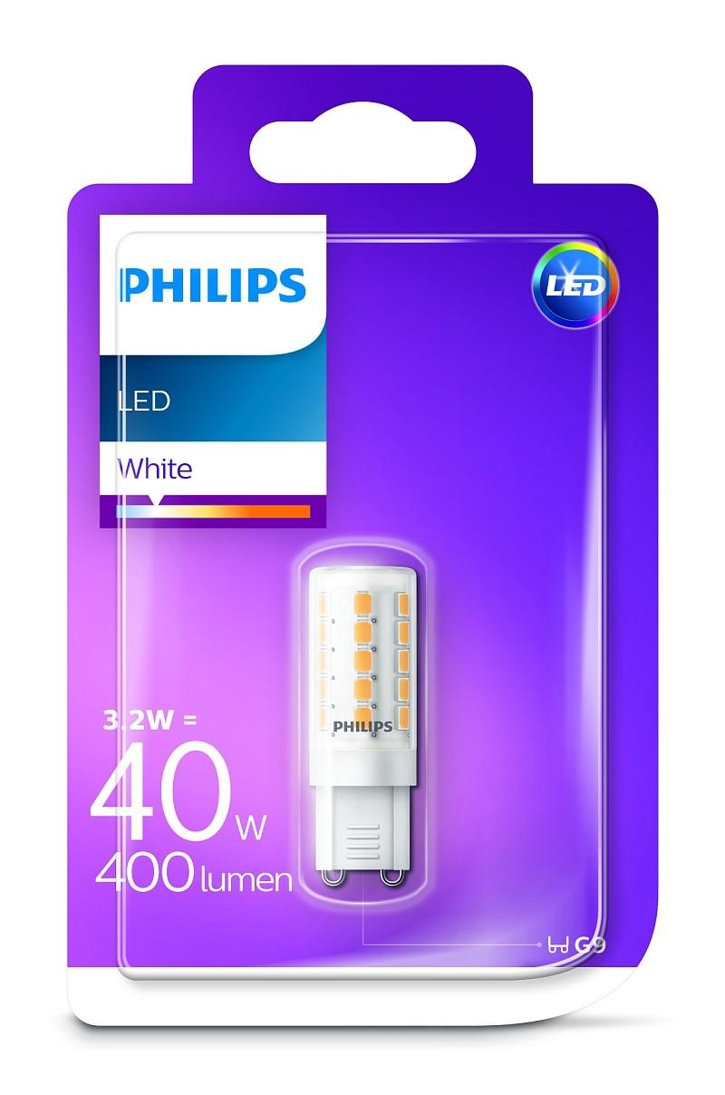 Philips 8718696815304 LED žárovky 1x3,2W|G9 Philips LED 3,2W/40W G9 WH ND 1BC/6 bílé světlo 3000K