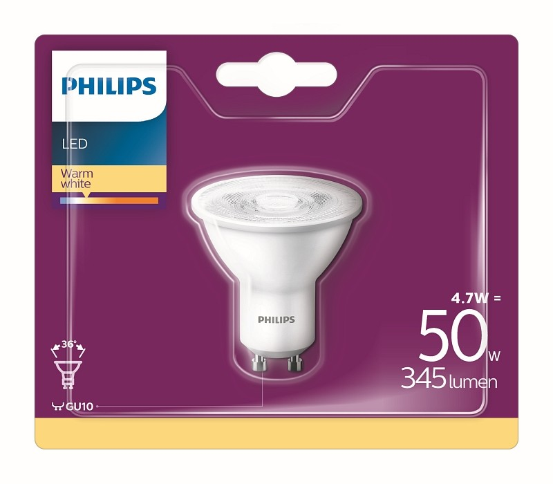 Philips 8718696829851 LED žárovka 5W GU10 2700K