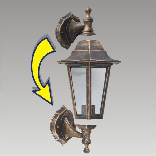 Prezent 3081 zahradní nástěnná lampa Capri 1x60W | E27 | IP44 - oboustranná, hnědá patina Prezent 3081