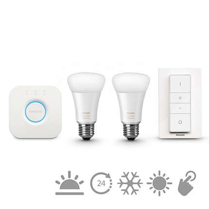 LED žárovky Philips Hue white ambiance 9.5W A60 E27 set EU