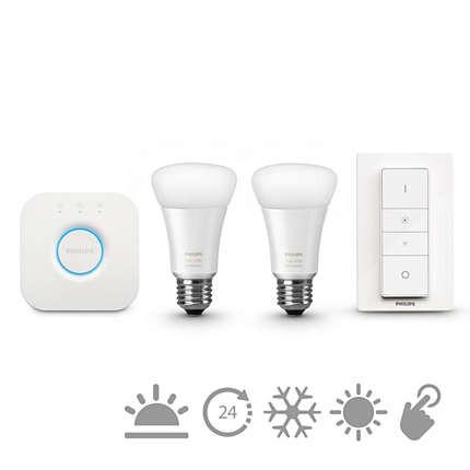 LED žárovky Philips Hue white ambiance 9.5W A60 E27 set EU