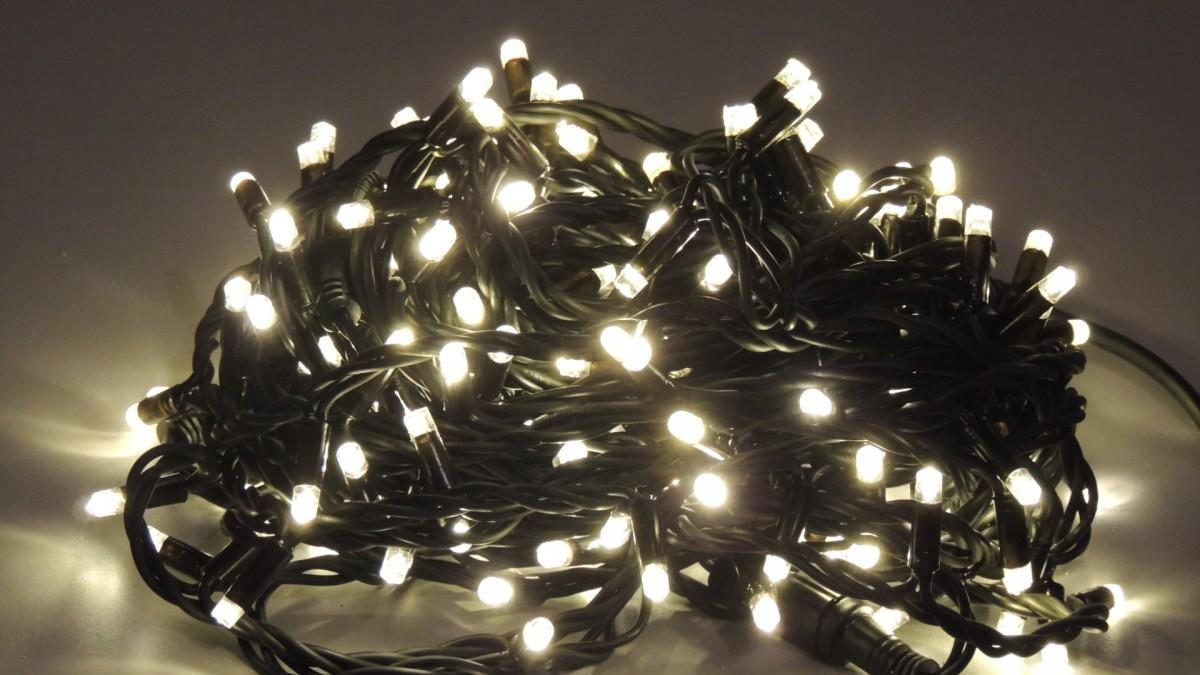 LED vánoční řetěz studená bílá S ČASOVAČEM NA BATERKY 32001 délka 5 m, IP20 - pro vnitřní použití