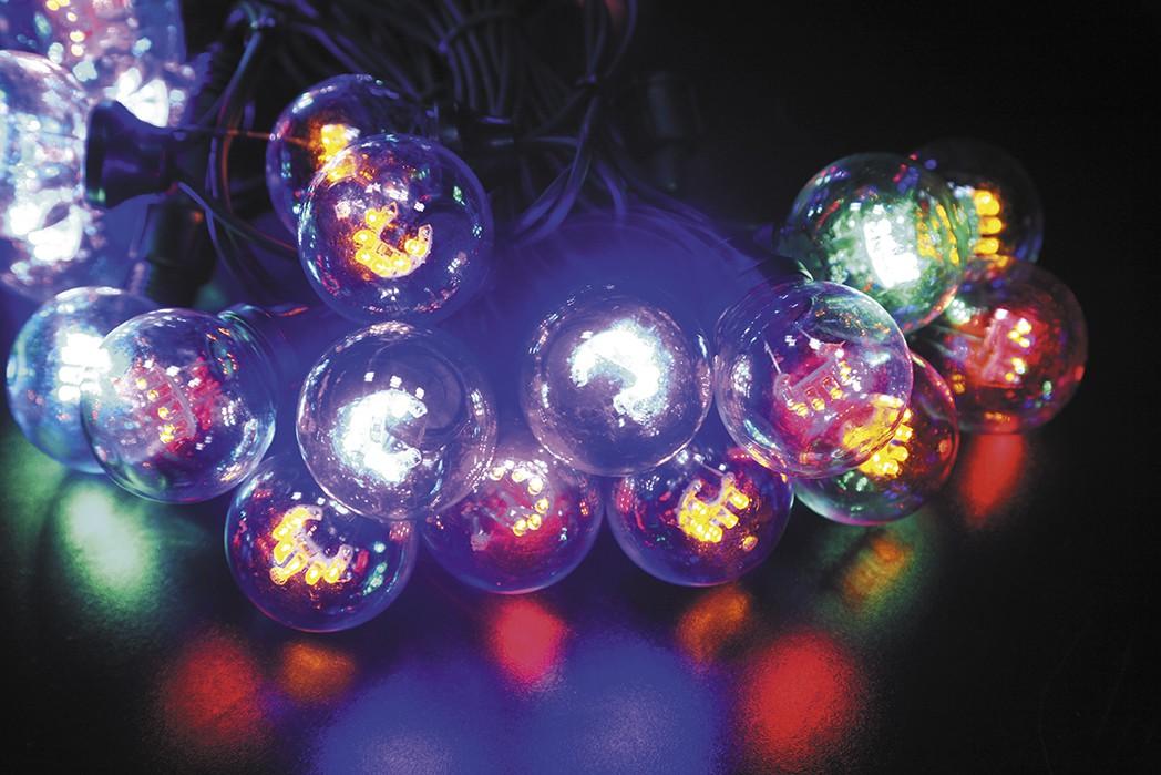 LED vánoční LED vánoční řetěz 120L BAREVNÝ délka 10 m, IP44 pro venkovní i vnitřní použití