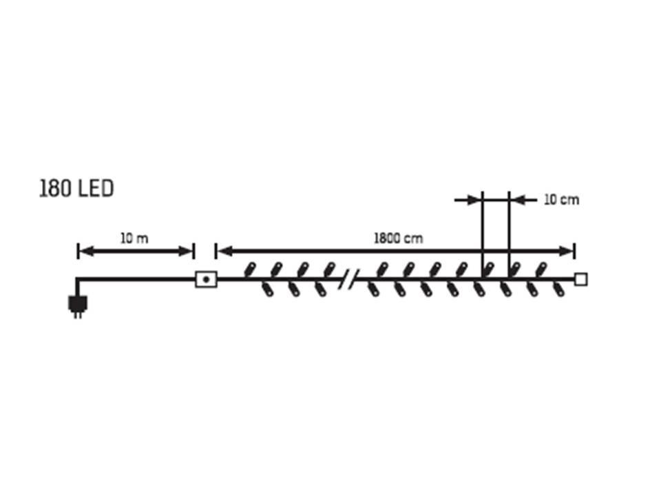 LED vánoční řetěz 32469, IP44 pro venkovní i vnitřní použití