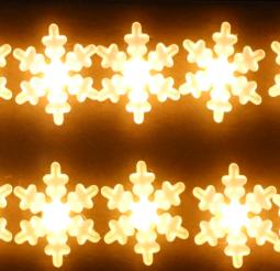 Světelný řetěz na baterky s vločkami 33459
