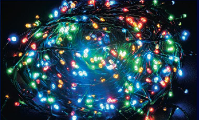 LED vánoční řetěz 600 LED délka 30 m, IP44 pro venkovní i vnitřní použití