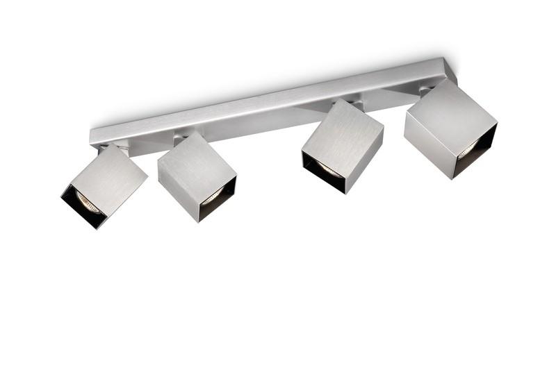 bodové svítidlo Philips Massive Forward 53134/48/PN GU10 4x35W - hliník