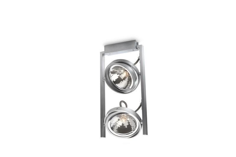 bodové stropní svítidlo Philips Massive Fast 53062/48/PN G9 2x42W - hliník