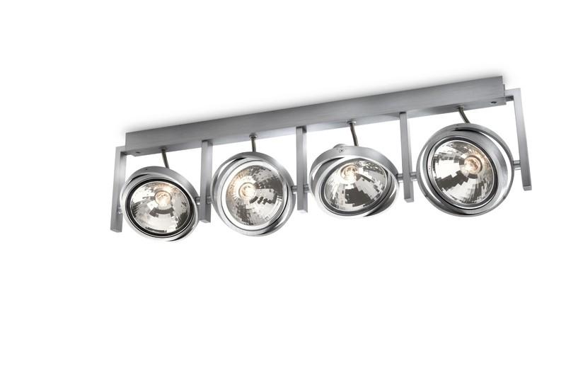 bodové stropní svítidlo Philips Massive Fast 53064/48/PN G9 4x42W - hliník