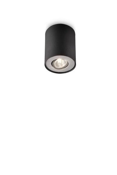 bodové stropní svítidlo Philips Massive Pillar 56330/30/PN GU10 1x35W - černá