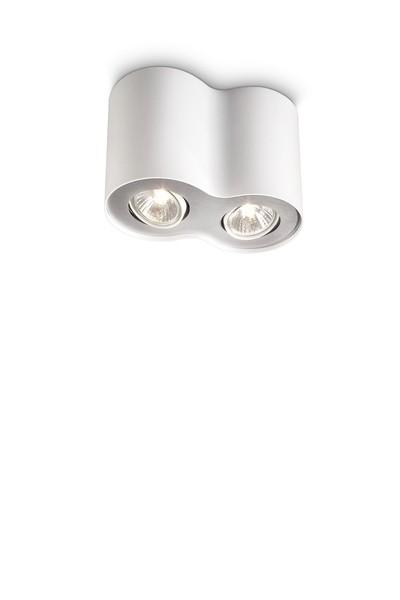 bodové stropní svítidlo Philips Massive Pillar 56332/31/PN GU10 2x35W - bílá