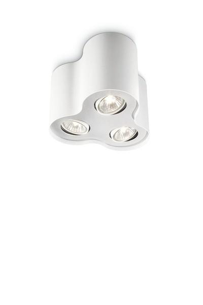bodové stropní svítidlo Philips Massive Pillar 56333/31/PN GU10 3x35W - bílá