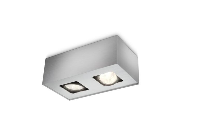 bodové stropní svítidlo Philips Massive Tempo 56232/48/PN GU10 2x35W - hliník