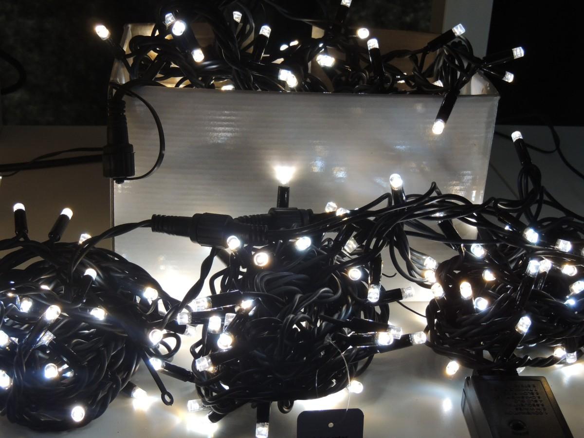 LED vánoční řetěz 200 L bicolor délka 20 m, IP44 pro venkovní i vnitřní použití