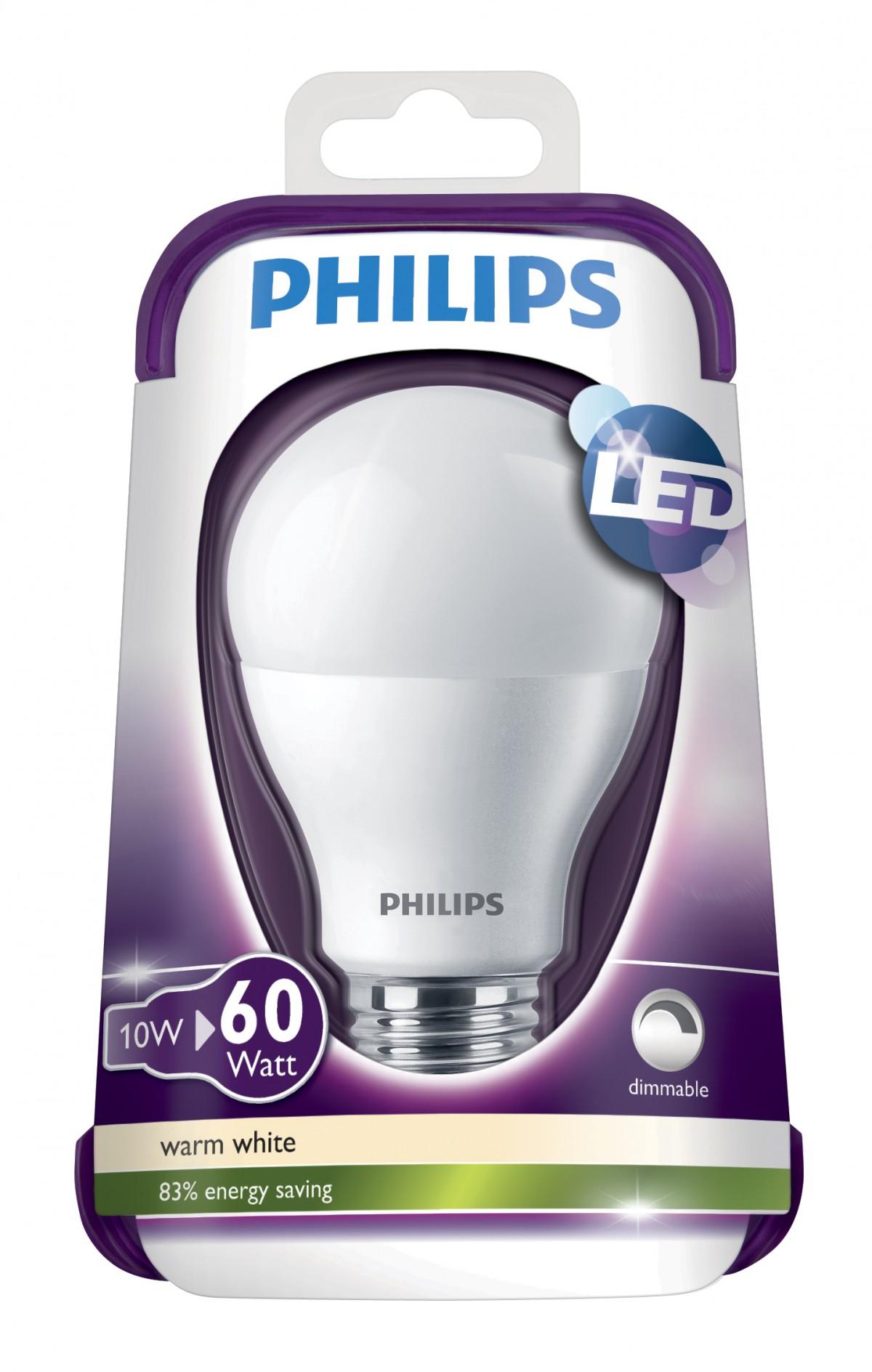 LED žárovka 8718291744658 10W (60W) E27 WW 230V A60 FR Dim/4, bílá