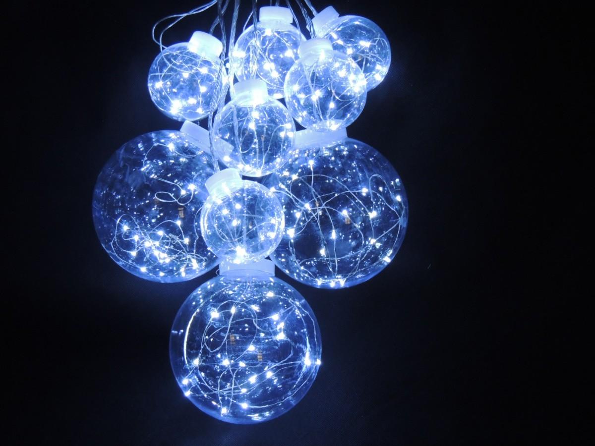 LED vánoční řetěz KOULE – teplá bílá 32803 délka 4 m, IP20 - pro vnitřní použití