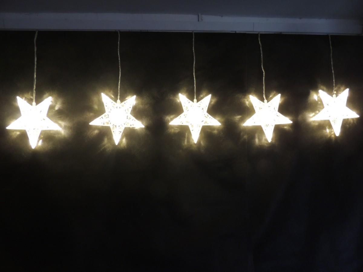 LED vánoční řetěz - 3D HVĚZDY 32278 délka 2 m, IP44 pro venkovní i vnitřní použití