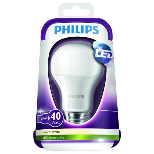 LED žárovka 8718696490884 6W (40W) E27 WW 230V A60 ND, bílá