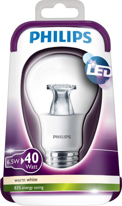 LED žárovka 8718696515792 6,5W (40W) E27 WW 230V A60 CLEAR, čirá