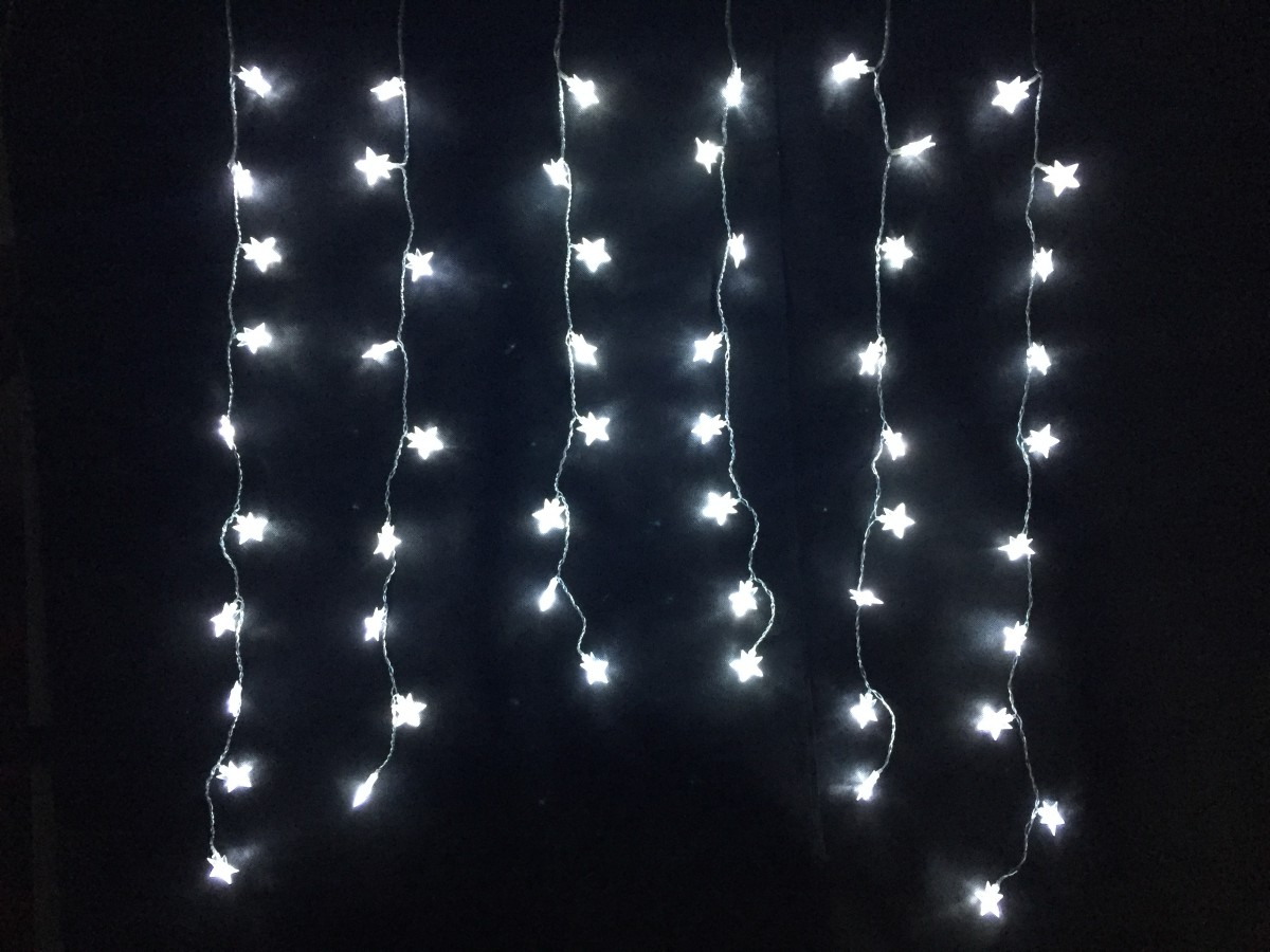 LED vánoční řetěz studená bílá - HVĚZDIČKY 32124 délka 1 m, IP20 - pro vnitřní použití