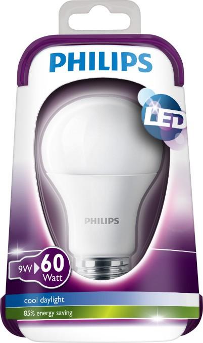 LED žárovka 8718696510520 9W (60W) E27 CDL 230V A60 FR, bílá