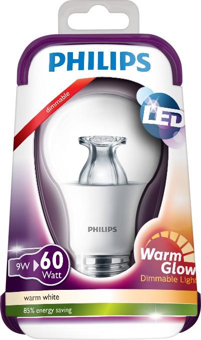 LED žárovka Warmglow 8718696481240 9W (60W) E27 WW 230V, čirá