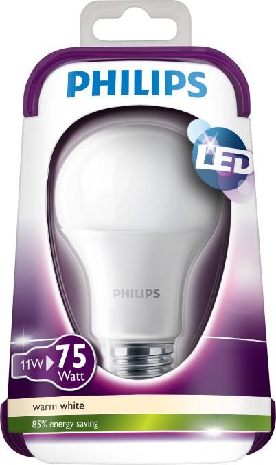 LED žárovka 8718696490846 11W (75W) E27 WW 230V A60 FR, bílá