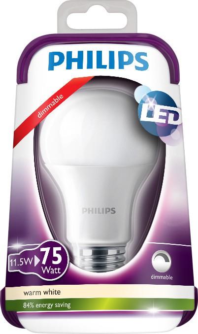 LED žárovka 8718696478691 11,5W (75W) E27 WW 230V A60 FR D, bílá