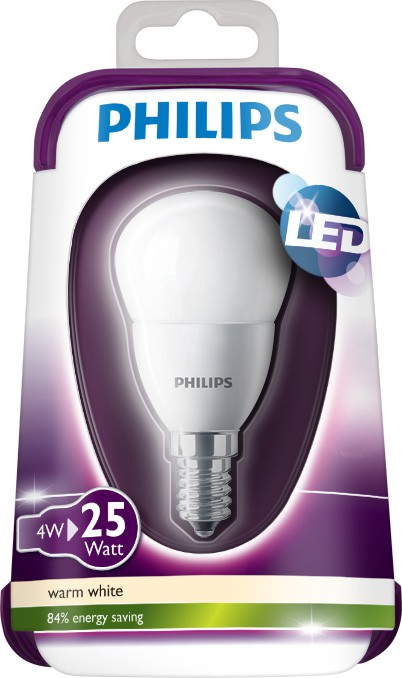 LED žárovka 4W (25W) E14 WW 230V P45 FR ND, bílá