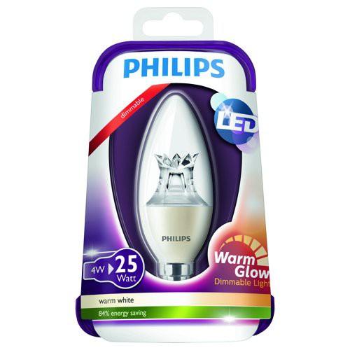 LED žárovka 4W (25W) E14 WW 230V, čirá