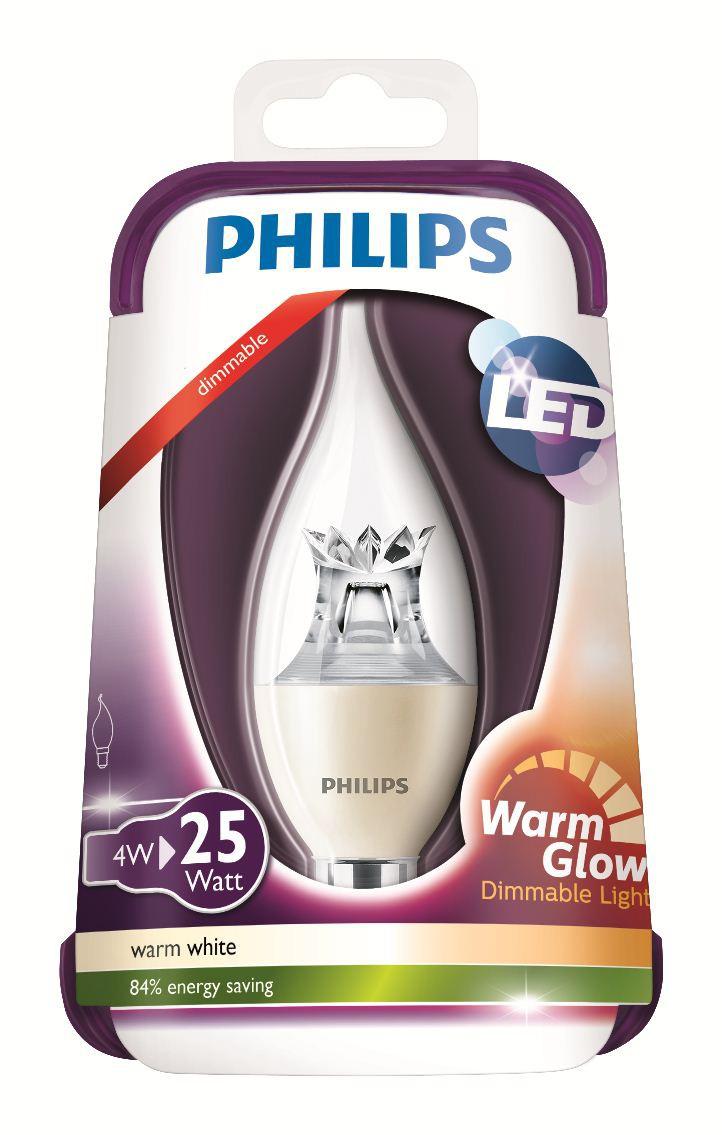LED žárovka Warmglow 8718696453742 4W (25W) E14 WW 230V, čirá