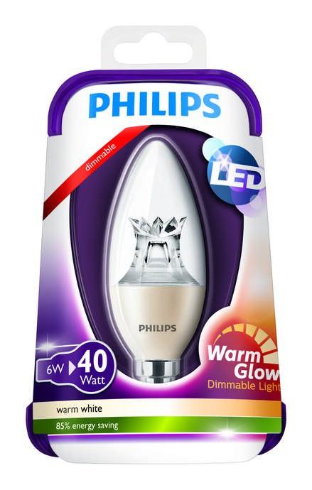 LED žárovka Warmglow 8718696453483 6W (40W) E14 WW 230V, čirá