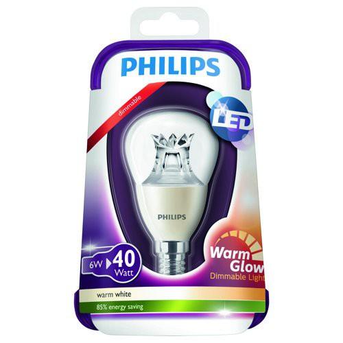 LED žárovka Warmglow 8718696453568 6W (40W) E14 WW 230V, čirá