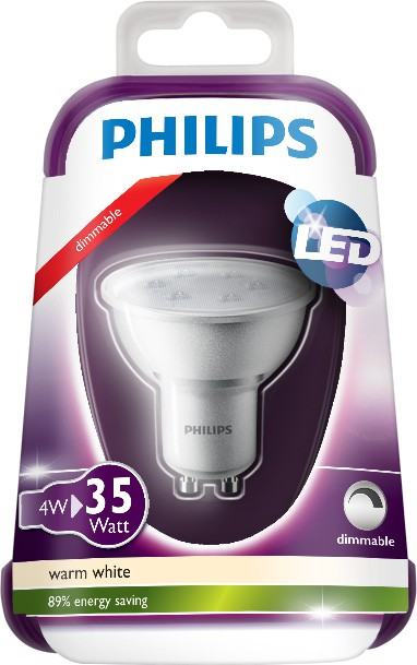 LED žárovka 8718696483824 4W (35W) GU10 WW 230V 36D, bodová