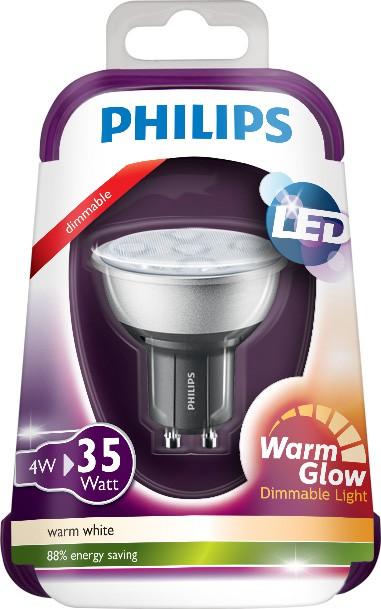 Philips LED GU10 35W teplá biela 36D Warmglow 230V D/4