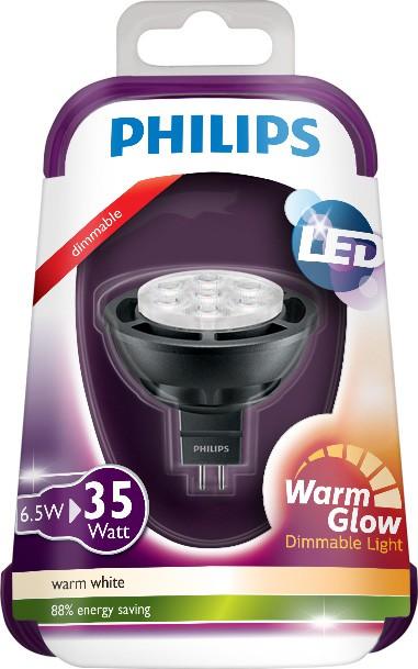 LED žárovka 8718696509708 6,5W (35W) GU5.3 Warmglow 12V, bodová