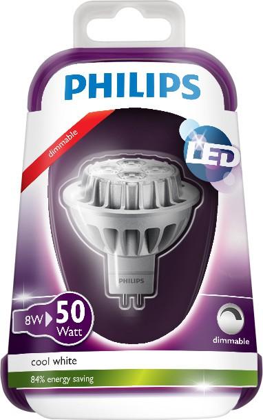 LED žárovka 8718696492321 8W (50W) GU5.3 CW 12V MR16 36D, bodová