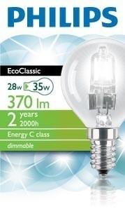 halogenová žárovka Philips Halogen Classic 8727900831467 28W E14 P45 CL 1CT/5F/NO