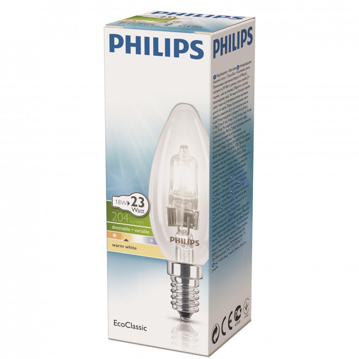 Philips Žárovka EcoClassic 18W E14 230V B35 CL 1CT 15