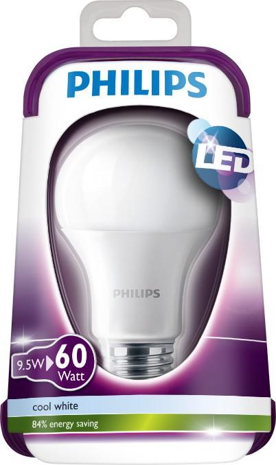 LED žárovka 8718696510186 9,5W (60W) E27 CW 230V A60 FR, bílá