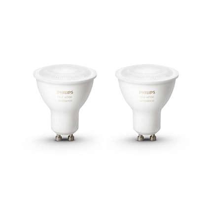 LED bodové světlo Philips Hue Ambiance 5.5W GU10 2Pack