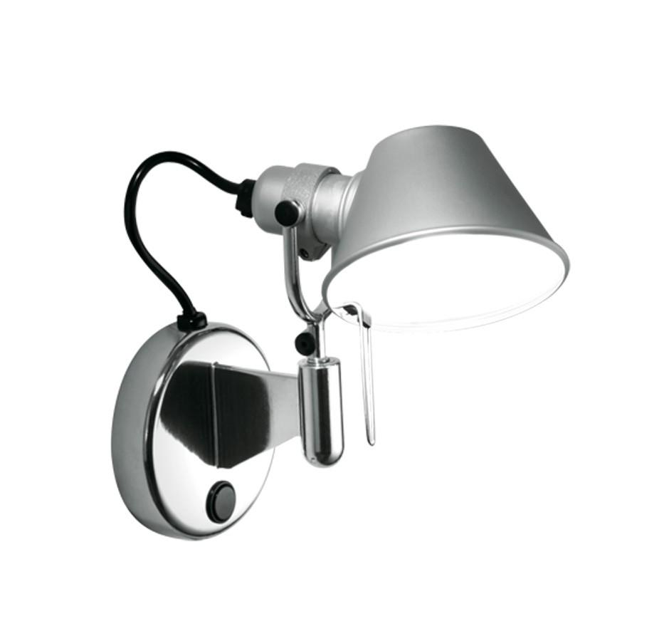 nástěnná lampa Artemide Tolomeo micro faretto A044050 E14 46W - šedá