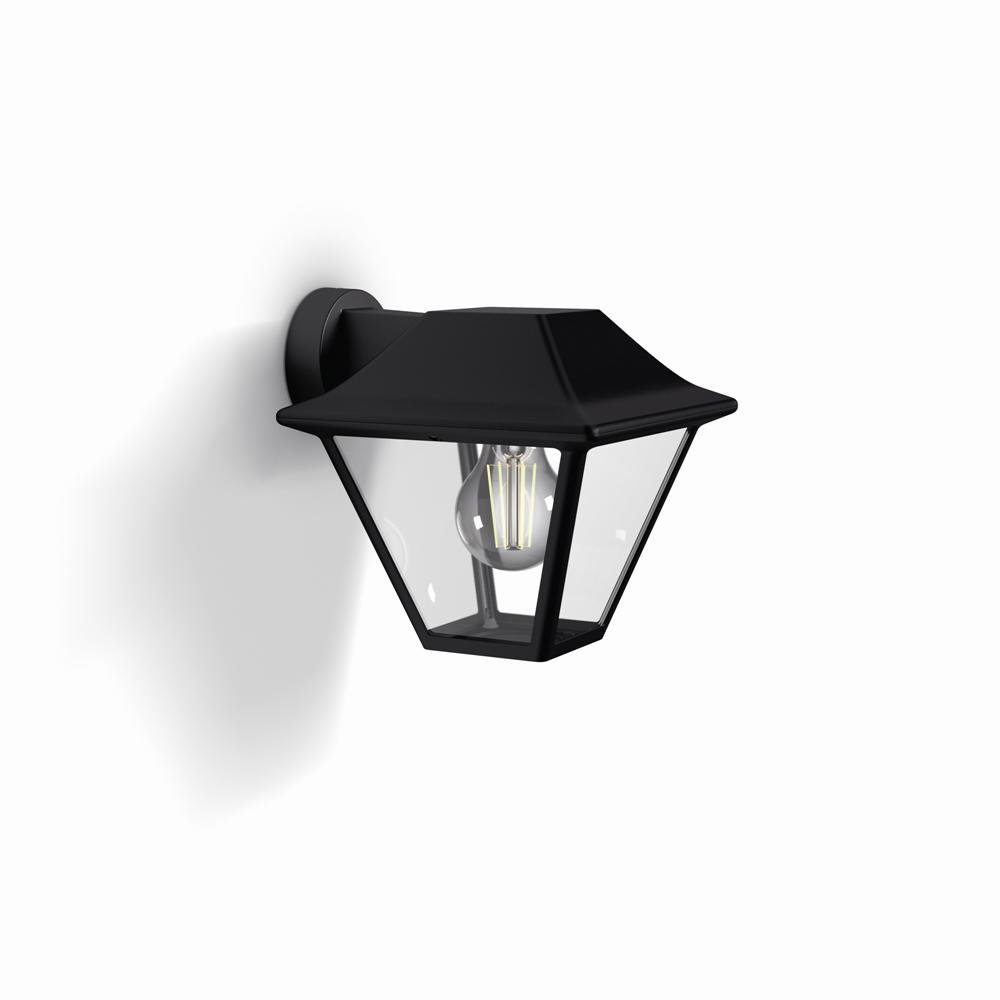 venkovní nástěnné svítidlo Philips Alpenglow 16495/30/PN E27 1x60W - černá