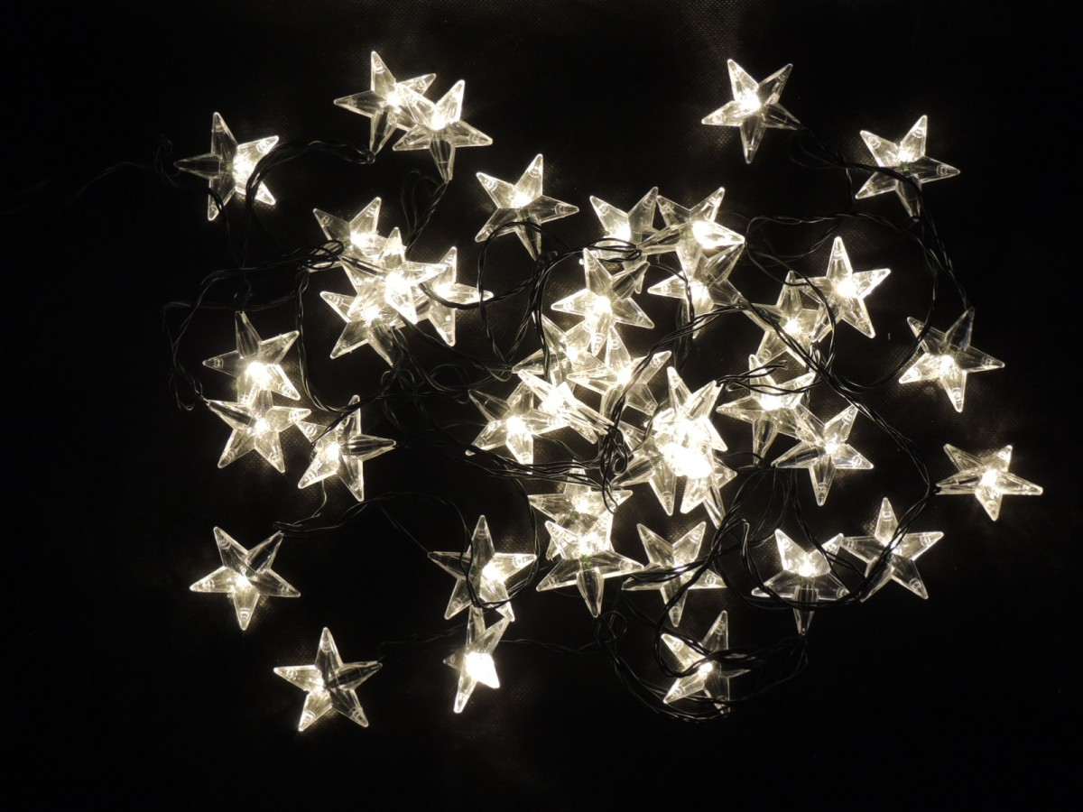 LED vánoční řetěz – hvězdy – teplá bílá 31837 délka 6m, IP44 pro venkovní i vnitřní použití