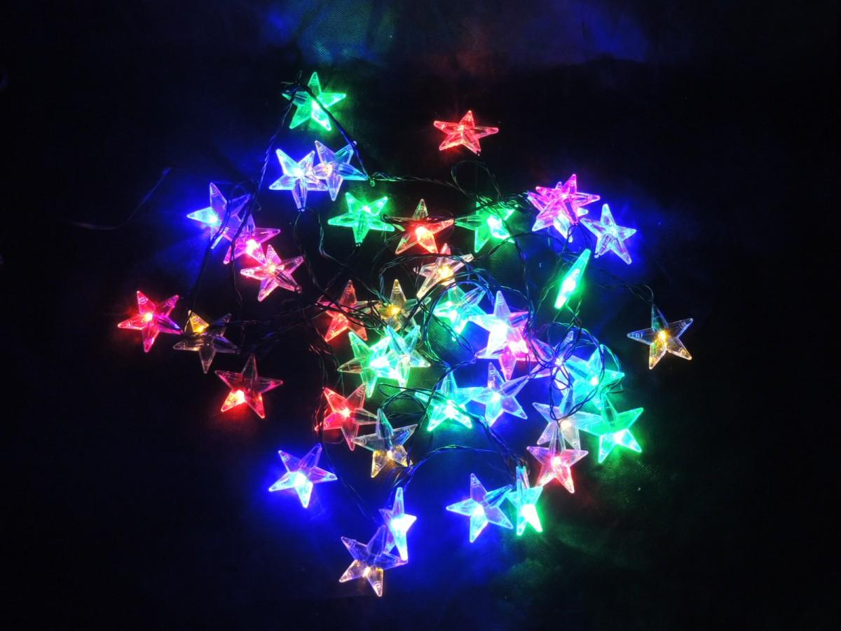 LED vánoční řetěz – hvězdy - multicolor 31851 délka 6 m, IP44 pro venkovní i vnitřní použití