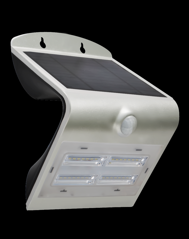 Immax venkovní solární LED osvětlení s čidlem, 3,2W, 4000-4500K, IP65, stříbrné (08428L)