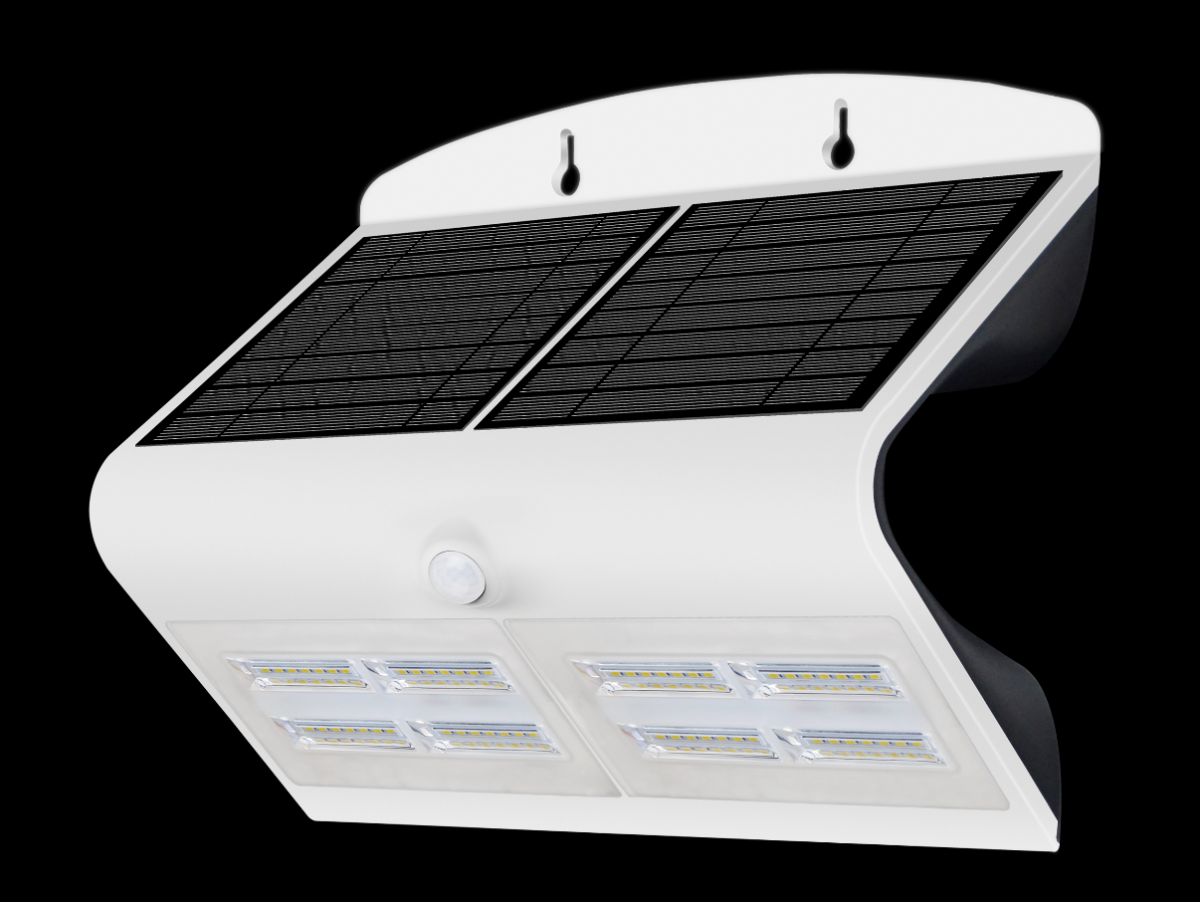 Immax venkovní solární LED osvětlení s čidlem, 6,8W, 4000-4500K, IP65, bílé (08429L)