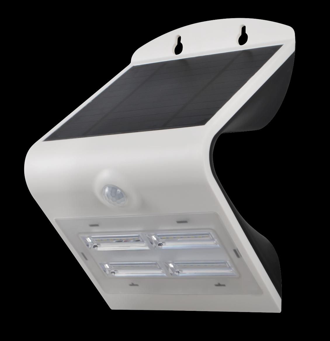 Immax venkovní solární LED osvětlení s čidlem, 3,2W, 4000-4500K, IP65, bílé (08426L)