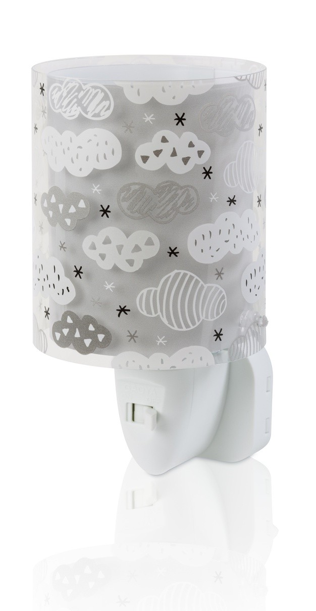 Dalber 41415E LED dětská noční orientační lampička Clouds Grey 1x0,3W|E14 - šedá